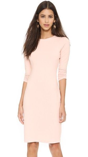 Exclusive to Shopbop.  A simple Susana Monaco dress with a formfitting look. Long sleeves. Unlined.