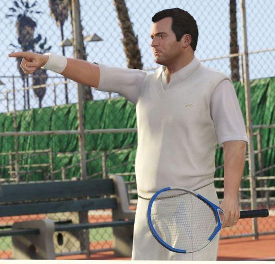 Gtav Grandtheftautov Para Mas Informacion Sobre Videojuegos Siguenos En Twitter Https Twitter Com Ts Videojuegos Y En Gta Grand Theft Auto Tennis Racket