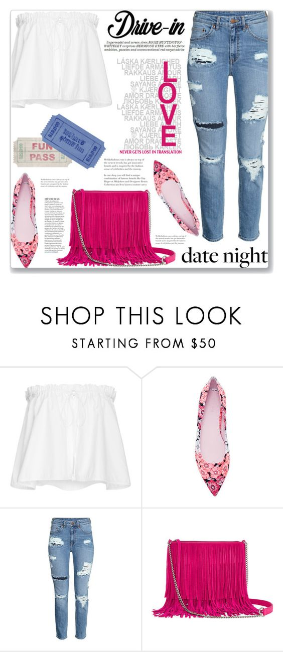 """Fun date"" by mood-chic ❤ liked on Polyvore featuring E L L E R Y, Giamba, H&M, Arizona, Whiteley, Anja, DateNight, drivein and summerdate"