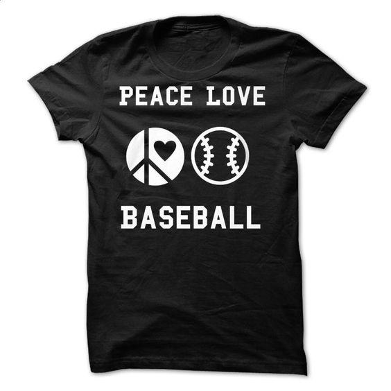 Peace Love Baseball T Shirts, Hoodies, Sweatshirts - #graphic hoodies #silk shirts. MORE INFO => https://www.sunfrog.com/Sports/Peace-Love-Baseball.html?id=60505