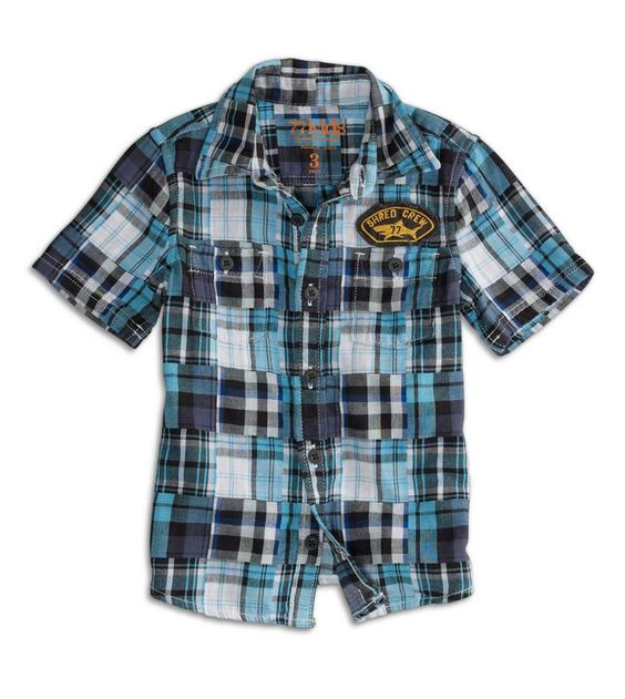 77 madras patch button down t