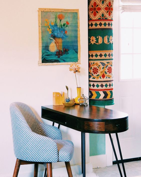 Tiny Home w/ Multifunctional Office/Dining Space | @Justina Siedschlag Siedschlag Blakeney + @elise West elm