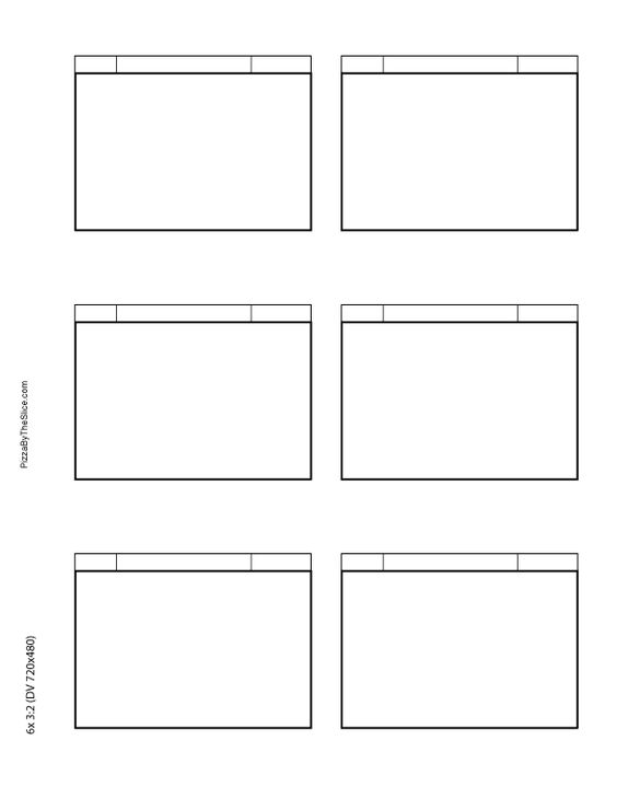 Storyboard Template Download Simple Storyboarding Template  Free