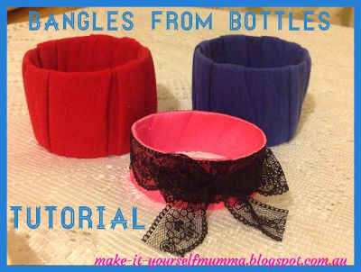 make-it-yourself mumma: Tutorial: How To Make Bangles From Soft Drink Bottles - Upcycling
