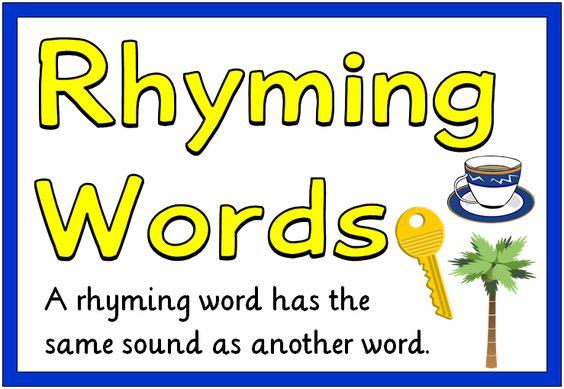 Rhyming Words - Treetop Displays - Printable EYFS, KS1, KS2 classroom displays & primary teaching resources