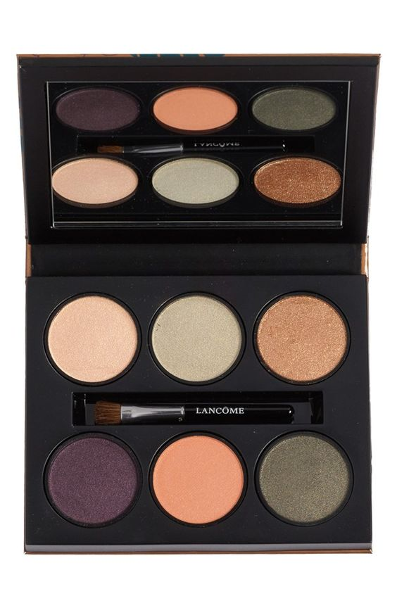 Lancôme pairs luxurious shimmering khaki tones with bold floral-inspired purple and a luminous orange to reflect summers warmth with this eyeshadow palette.