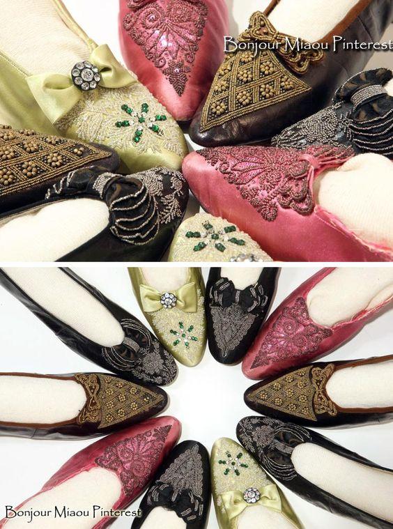 Beaded slippers ca. 1880. Liberty Hall Museum, Kean Univ., via HistoryPin