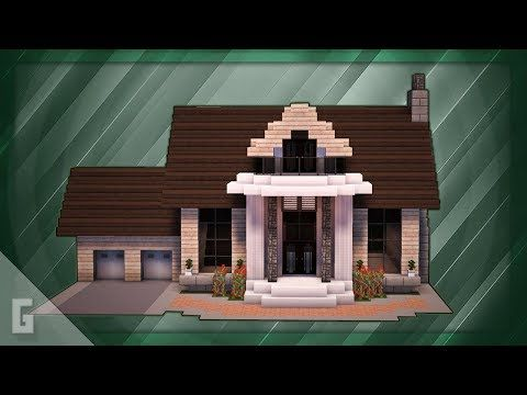 Minecraft How To Build A Large Suburban House Tutorial 6 Youtube Minecraft House Designs Easy Minecraft Houses Minecraft House Tutorials