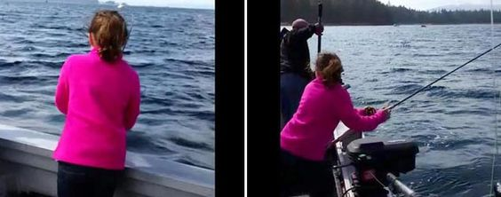 Fishing girl gets big surprise (Newsflare)