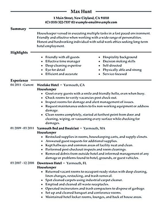 Combination Food Service Resume Download this resume sample to - sample hotel management resume