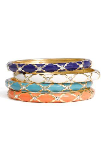 colorful studded bangles