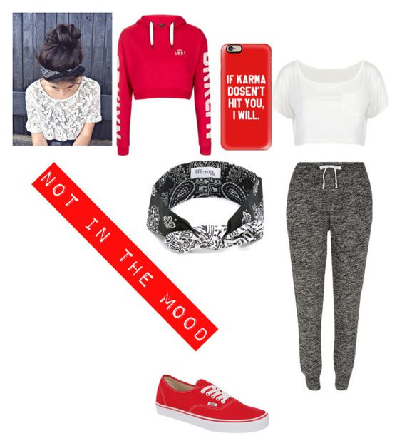 """""""Untitled #173"""" by elainia on Polyvore featuring Vans, River Island, Topshop, Casetify and Maison Michel"""