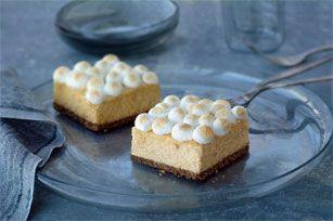 Philadelphia Cream Cheese Sweet Potato Cheesecake Bars