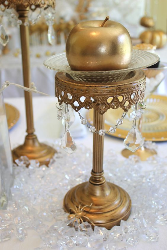 Snow white gold centerpieces and on pinterest