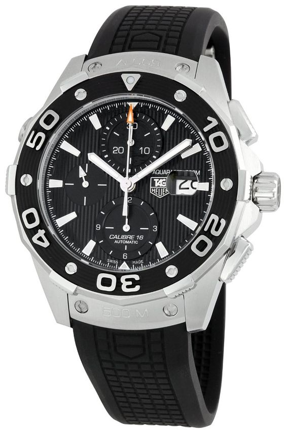 men watches TAG Heuer Men's CAJ2110FT6023 Aquaracer Chronograph Watch Best watches for men