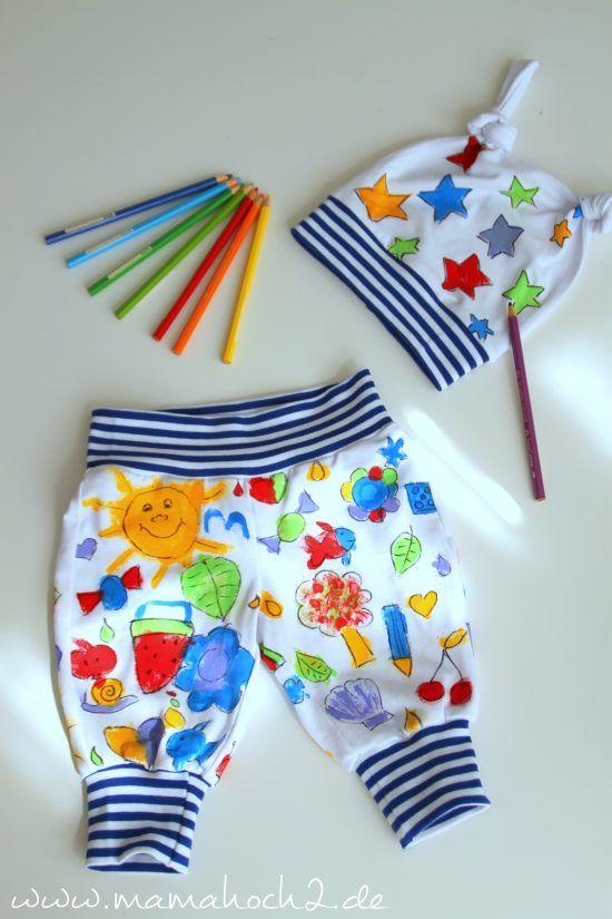 Stoff Bemalen Mit Kindern Individuelle Kleidung Designed Aus Kinderhand Mamahoch2 Kinder Hande Kinder Nahen Fur Kinder