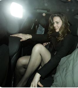 D Magazine:  NYLONS ARE WAAAY BACK IN! THANK YOU KATE MIDDLETON…