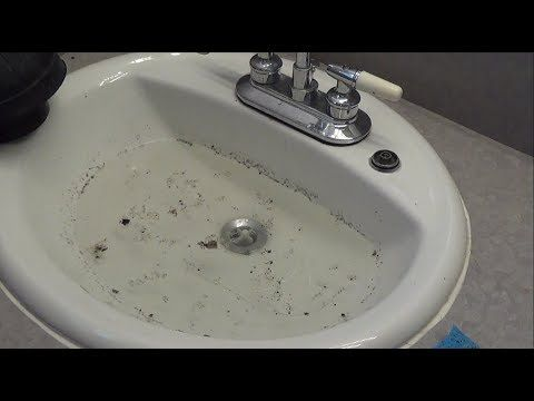 How To Unclog A Bathroom Sink Youtube Unclog Bathroom Sinks Bathroom Sink Sink