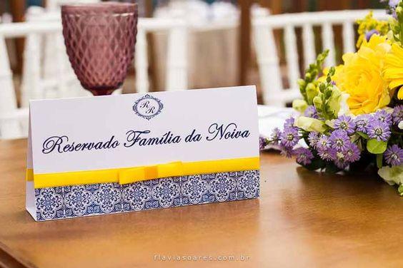 Decoração de casamento: Amarelo e azul | http://www.blogdocasamento.com.br: