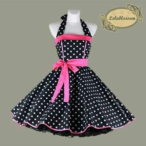 Pretty black pink polka dot dress bow belt petticoat - Petticoats ...