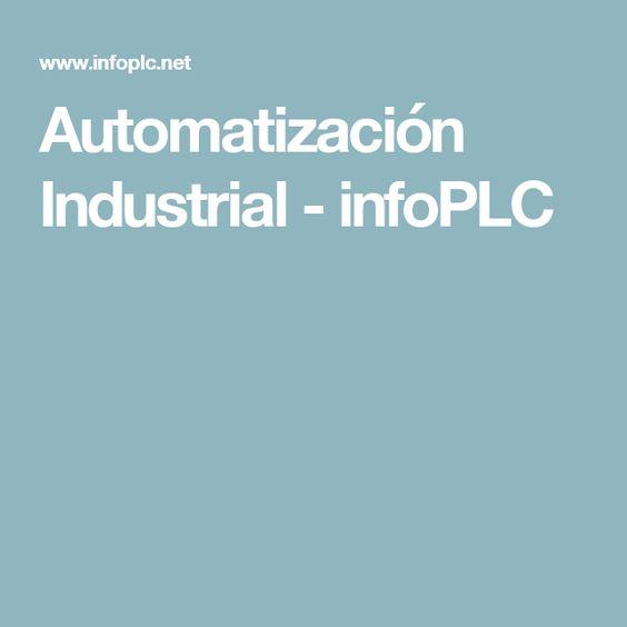 Automatización Industrial - infoPLC