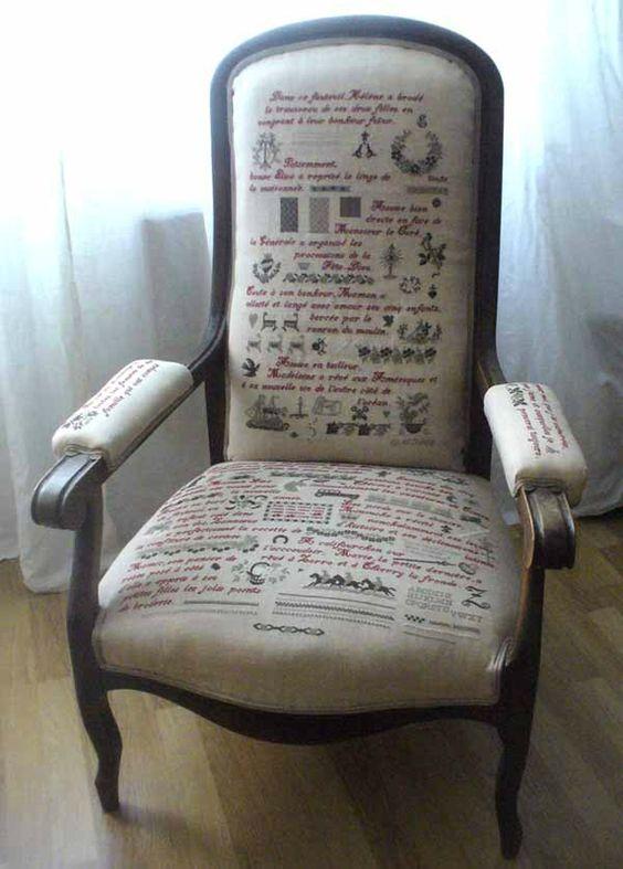 Le fauteuil de Babeth au Point de Croixxx* Une oeuvre d'art !!!