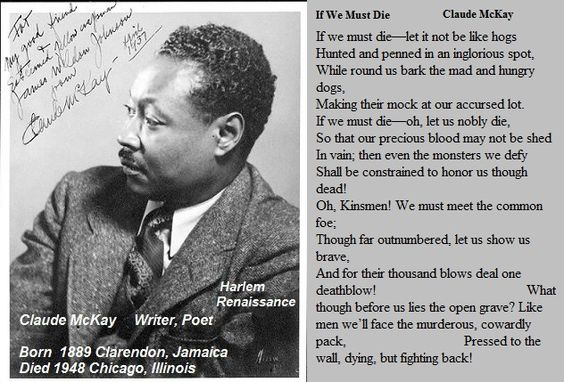 langston hughes and claude mckay Harlem voices the poetry of langston hughes and claude mckay 2011 distributed by films media group, 132 west 31st st, 17th floor, new york, ny 10001 800-257-5126.