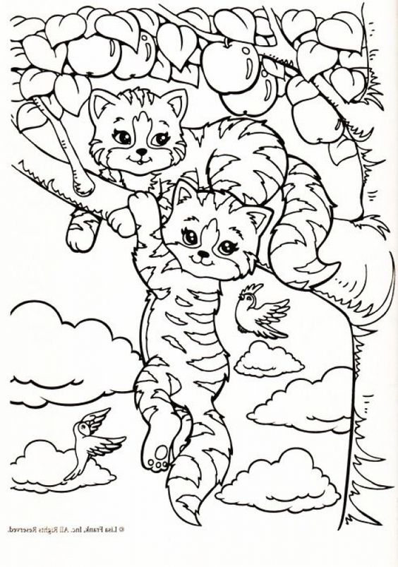 lisa frank free coloring pages - photo#24