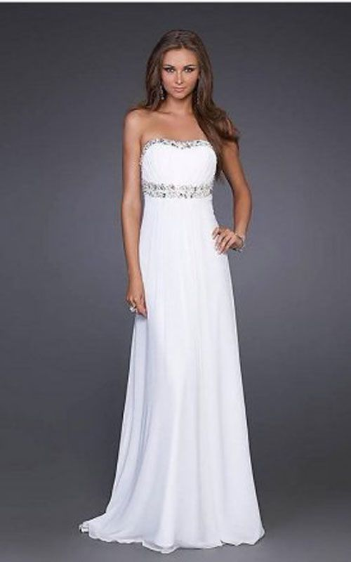 White Asymmetrically Ruffled and Pleated Homecoming Dresses