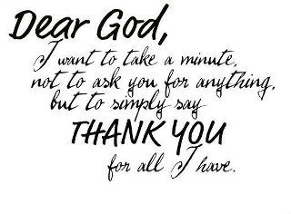 So important!!  It is true we should be thankful everyday for all that we have been given.