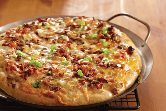 Chicken, Bacon, Ranch #Pizza. Sounds like dinner.  Order your Pampered Chef…