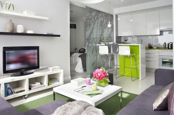 Modern Interior Design For 40 M2 Small Apartment In Spain