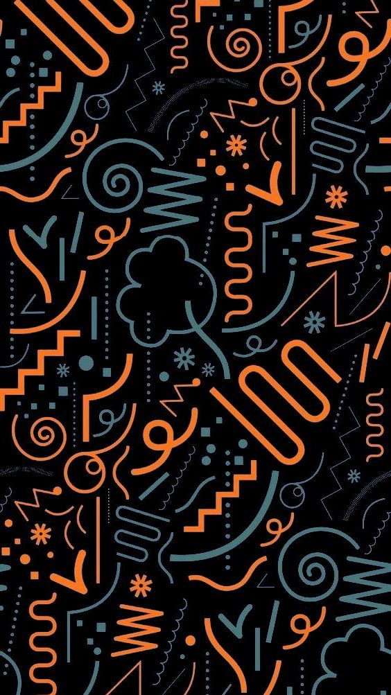 Muchatseble Desain Grafis Pemandangan Abstrak Wallpaper Ponsel