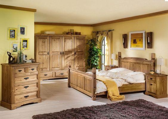 Landhaus Schlafzimmer Mexican Henke Möbel Kiefer Massiv Antik - schlafzimmer kiefer massiv