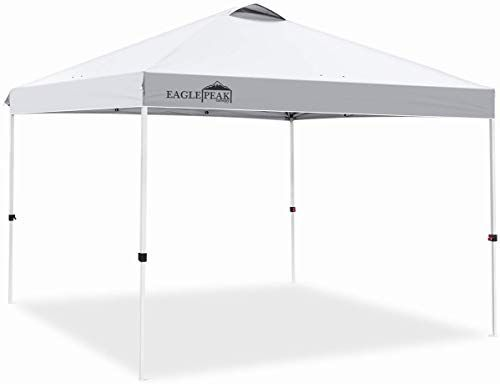 Enjoy Exclusive For Eagle Peak 10 X 10 Pop Up Canopy Tent Instant Outdoor Canopy Straight Leg Shelter 100 Square Feet Shade White Online Toplikeclothes In 2020 Pop Up Canopy