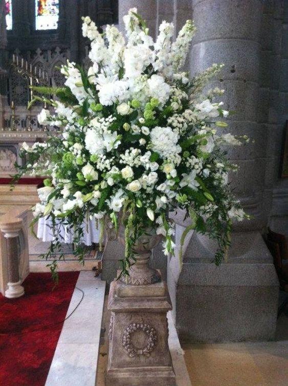 Church Sanctuary Alter Pedestal Large Floral Arrangement