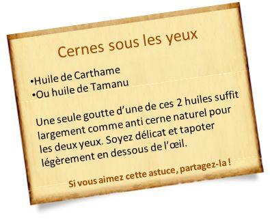 anti cerne naturel carthame