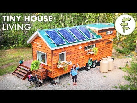 Woman Living Off Grid In Her Tiny House In Northern Canada