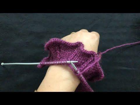 Knitting Frill Border For Your Sweater Cardigan Youtube Knitting Knitting Videos Tutorials Crochet Fingerless Gloves