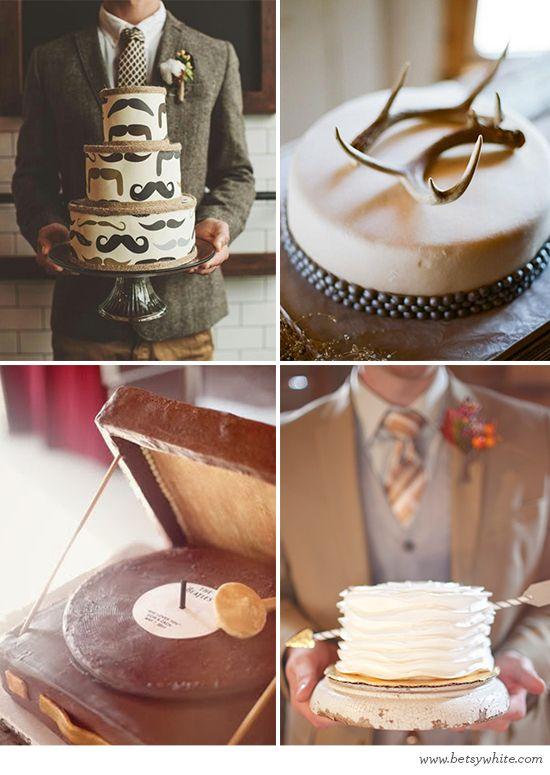 Sweet Grooms (groom's cake inspiration) // Flights of Fancy
