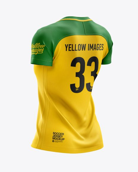 Download Women S Soccer Jersey Mockup Back Half Side View In Apparel Mockups On Yellow Images Object Mockups Clothing Mockup Design Mockup Free Shirt Mockup