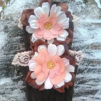 Products · Chocolate Brown Flower Boot Cuffs · Temptations Creations's Store Admin