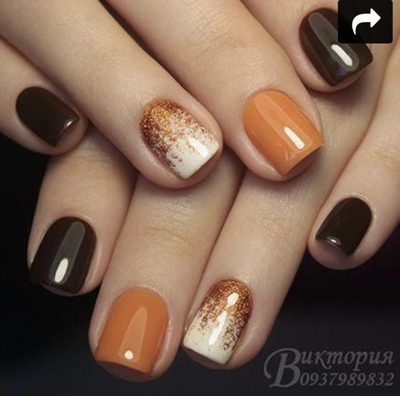 50 Fall Nail Art Ideas And Autumn Color Combos To Try On This Season Hike N Dip Nails Cute Nails For Fall Light Nails