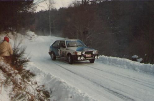 1984 MONTE CARLO RALLY - Mazda 323 Turbo. Drivers: Minna Sillankorva / Johanna Nieminen. Place: 22nd o/a. 1st Coupe des Dames.