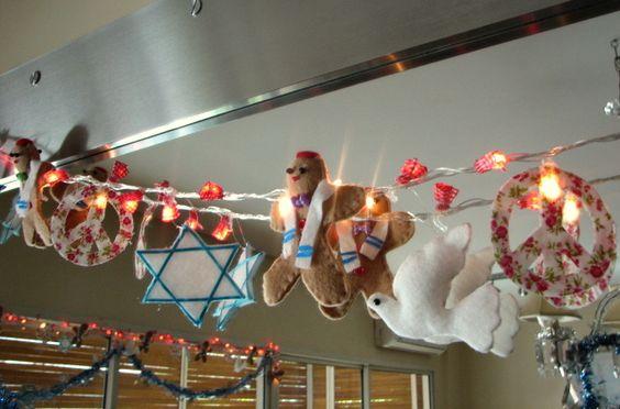 HAPPY HANUKKAH!!! LIGHT GARLAND/ GUIRNALDA DE LUCES by Happy Day Para Vos