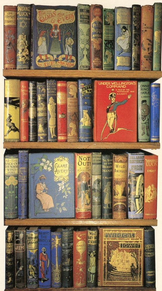 Late 19th-early 20th century children's books in the Bodleian Library, University of Oxford - what a lovely assortment!