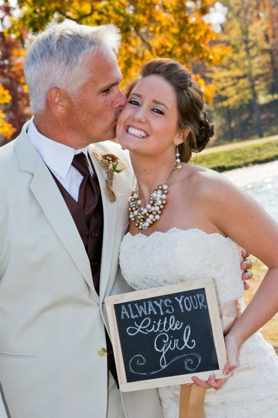 father daughter wedding picture