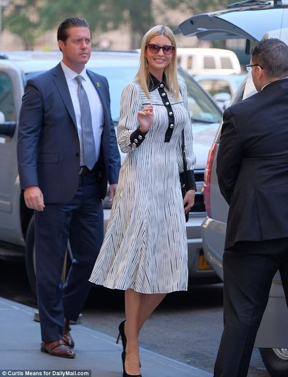 Ivanka Trump wears a long-sleeve dress despite sweltering NYC heat #dailymail