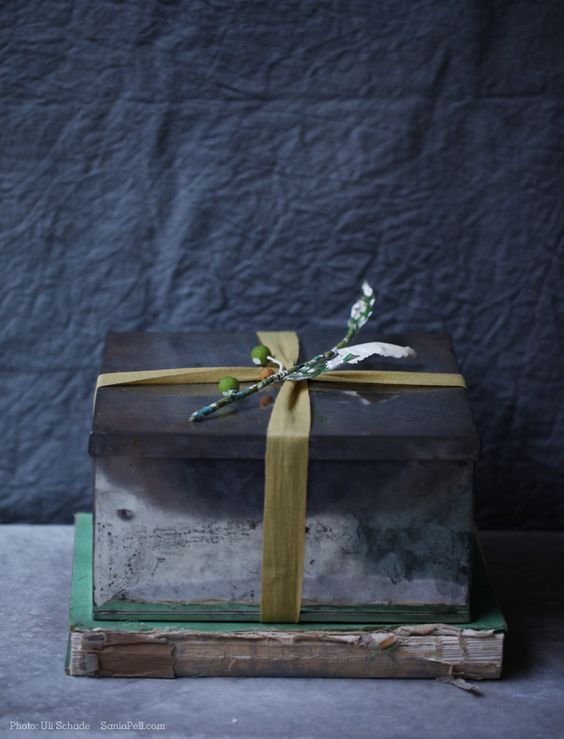 Moody vintage gift wrapping