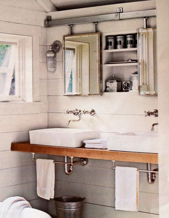 Double Sinks Towels And Cabinets On Pinterest